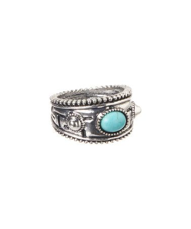 Another great find on #zulily! Turquoise Magnesite & Silver Milgrain Ring #zulilyfinds