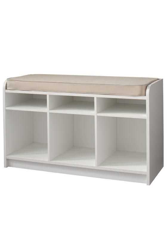 Terrific White 3 Cubby Storage Bench Furniture Home Bar Furniture Bralicious Painted Fabric Chair Ideas Braliciousco