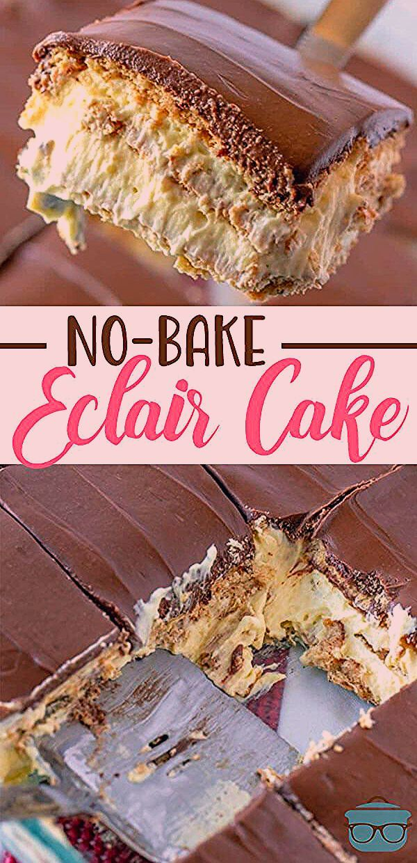 Photo of NO-BAKE ECLAIR CAKE (+Video)   The Country Cook