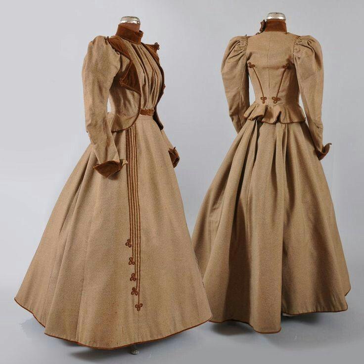 1890s Victorian Promenade Visiting Suit Dress Victorian Clothing Edwardian Fashion Victorian Fashion