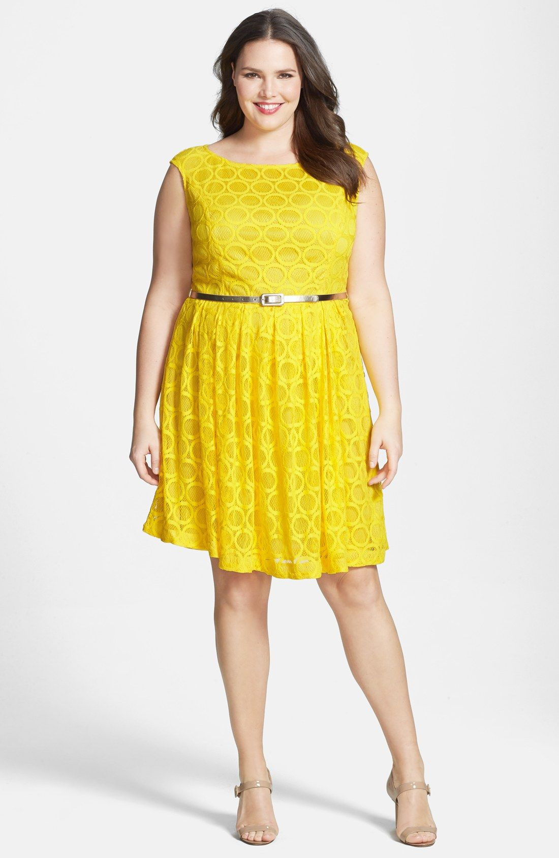 London Times \'Circle\' Lace Fit & Flare Dress (Plus Size) | Nordstrom ...