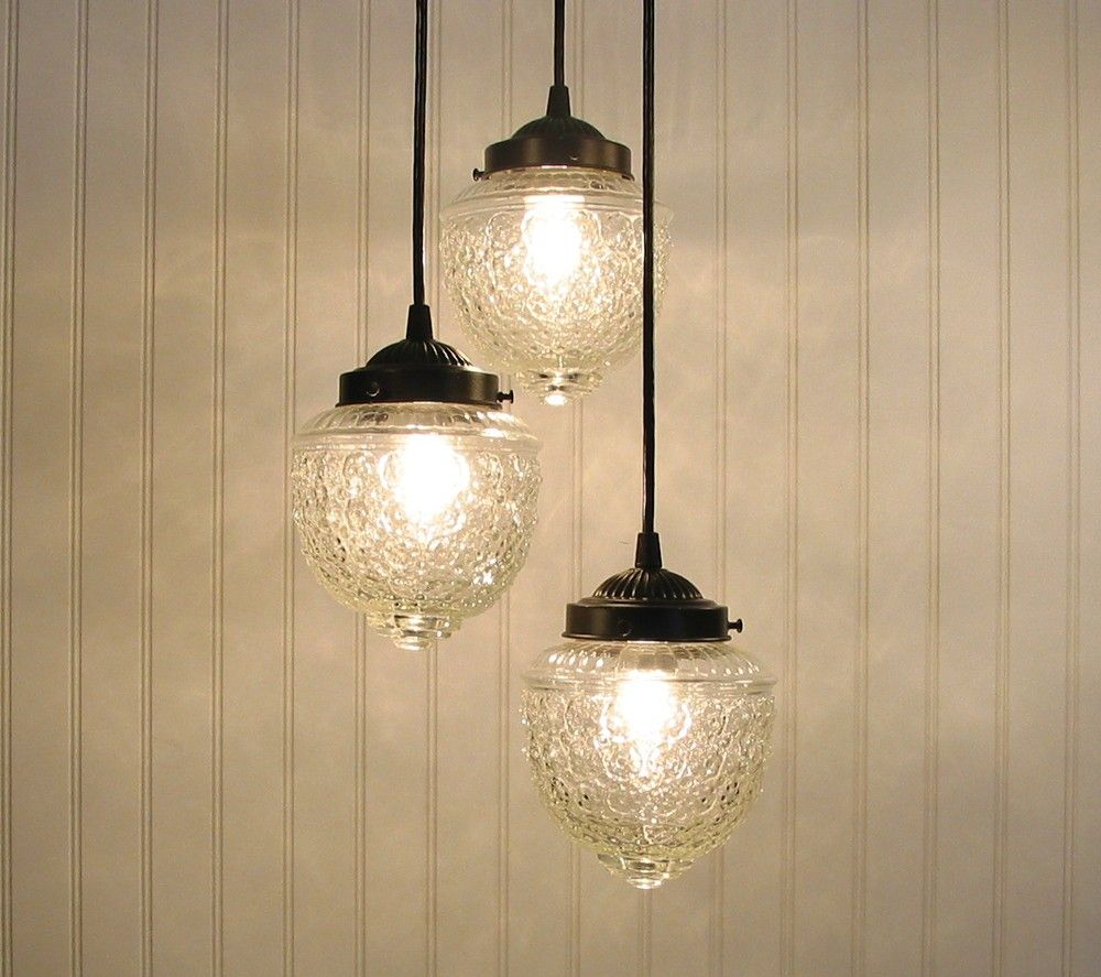 Island falls ii clear chandelier trio created new via