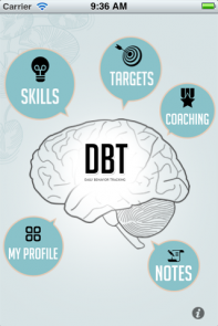 The DBT iPhone App | While this app is marketed as a way to quickly and easily fill out your diary cards (it is), it's also a full-fledged reference manual for the #DBT skills. You can easily add your own skills or customize the ones already included.