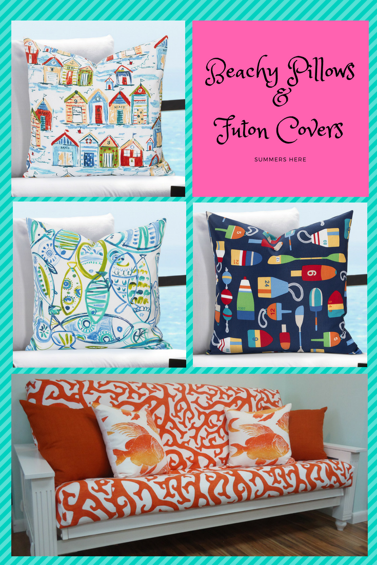 Cabana Pillow Cover Tropical Futon