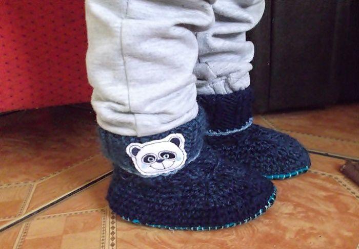 Papcie Z Welny Na Szydelku Dla 2 Latka Szysia Boots Ugg Boots Winter Boot