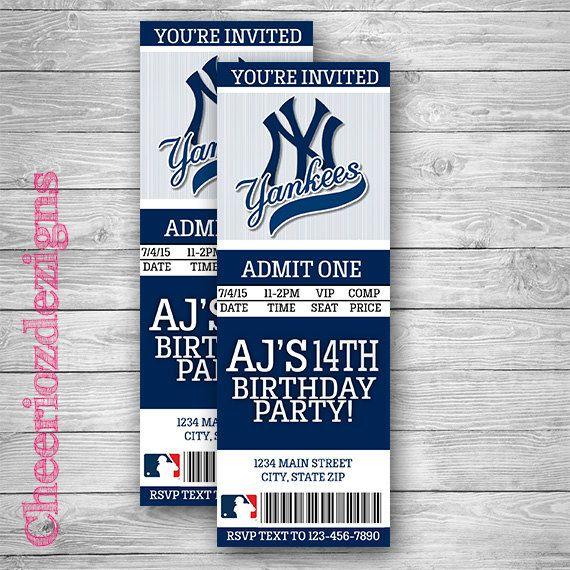 New york yankees ticket invitation baseball by cheeriozdezigns new york yankees ticket invitation baseball by cheeriozdezigns stopboris Gallery