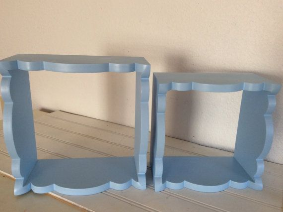 Wall Shelves   Set Of 2  Light Blue  Bathroom  by mushroommary