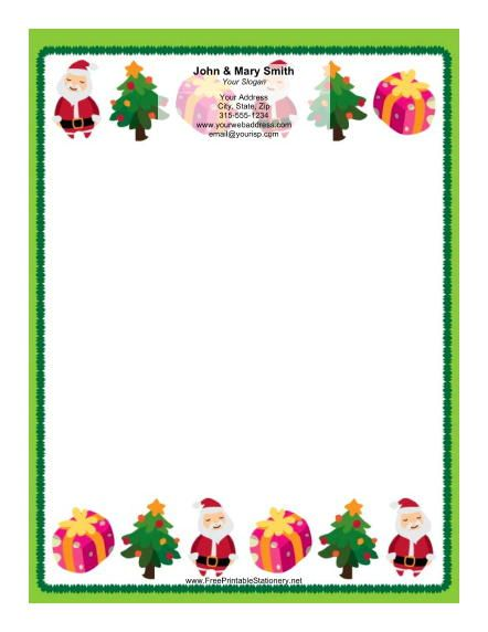 printable christmas borders Download this stationery design sheet