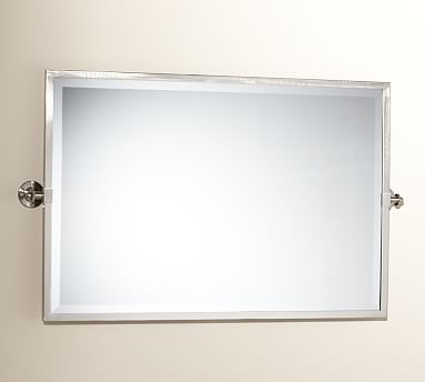 Kensington Pivot Mirror Extra Large Wide Rectangle Satin Nickel Finish Decor Pillows Wall Mirrors Pinterest Bath And Small