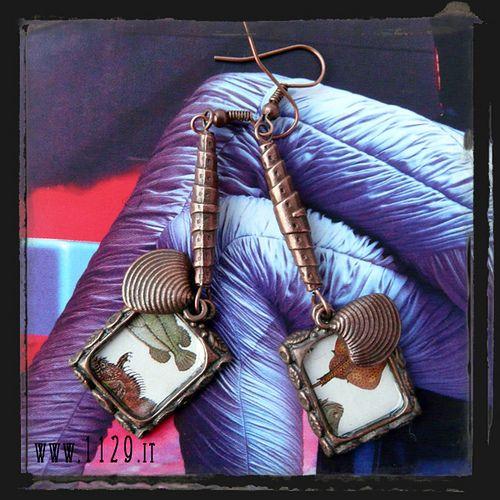 orecchini rame - copper earrings...