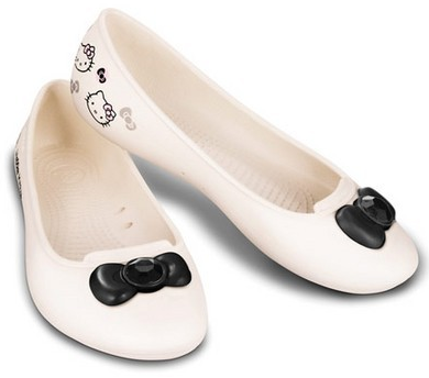 hello kitty flats sanrio | CROCS Hello Kitty McCall Womens Flat Oyster | Topánky » CROCS ...