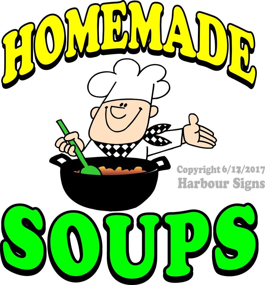 Homemade Soups DECAL Food Truck Vinyl Sticker Sign Concession Choose Your Size