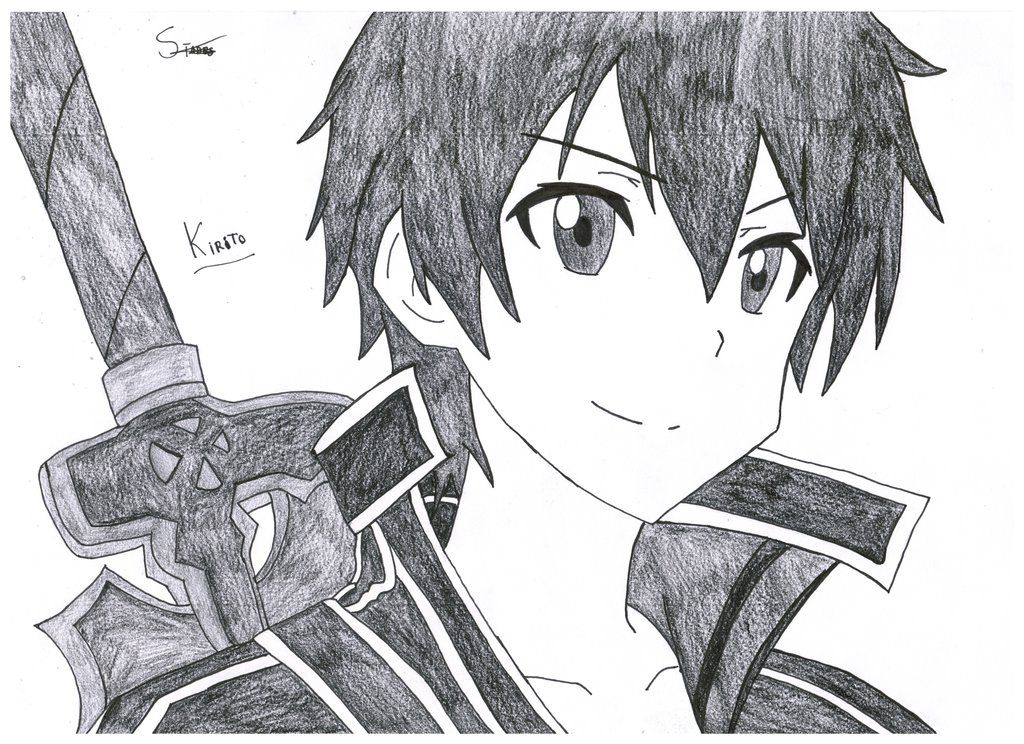 Kirito and Asuna Sword art online by StadesDrawing on
