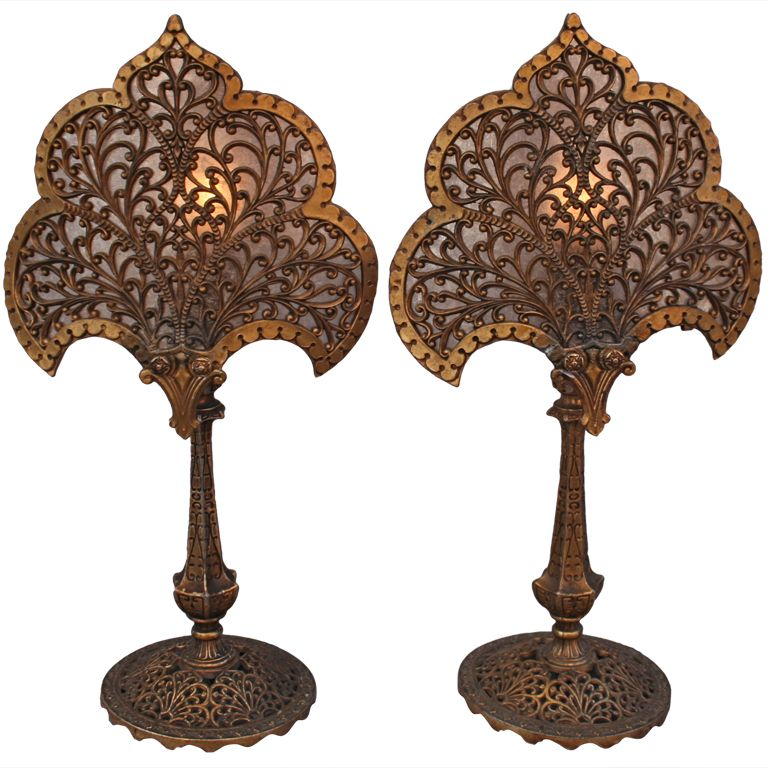 Items Similar To Lighting Rustic Chandelier Vintage 1920 S: Pair Of 1920's Fan Shaped Lamps