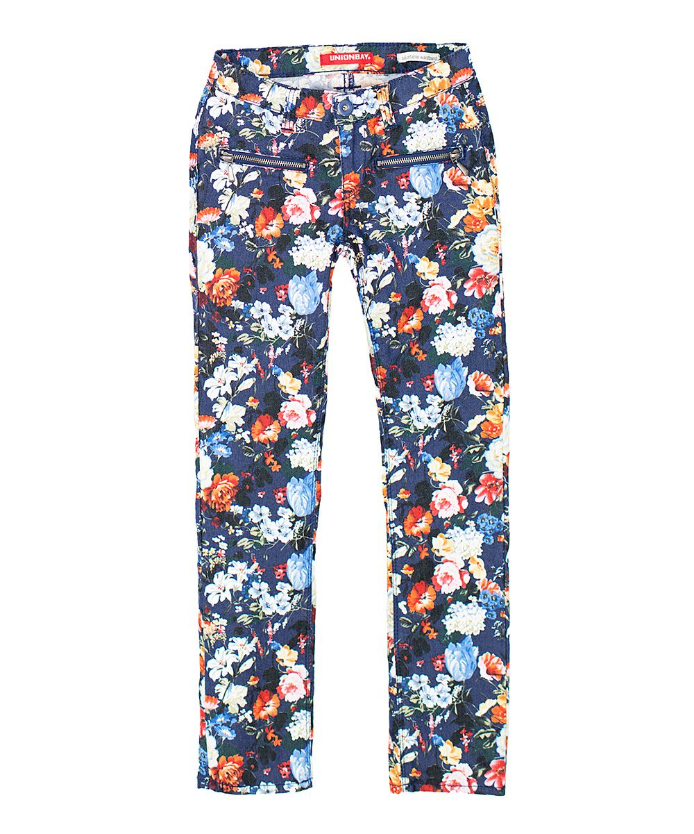 Vintage Indigo Maddie Pop Floral Skinny Jeans - Girls | Daily deals for moms, babies and kids