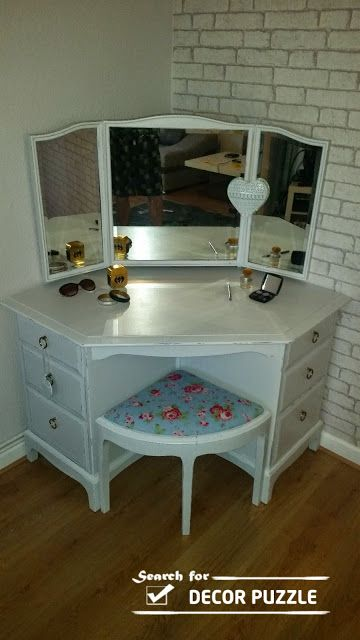 Unique modern corner dressing table designs for small Corner dressing table