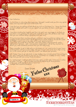 Letter from Santa (With images) Santa letter, Lettering