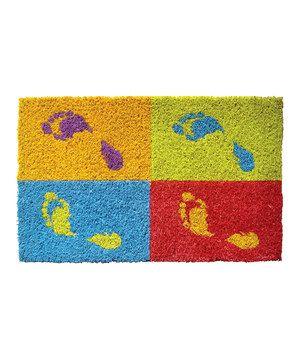 Possible DIY Project. Footprints Coir Handwoven Doormat by Entryways #zulilyfinds