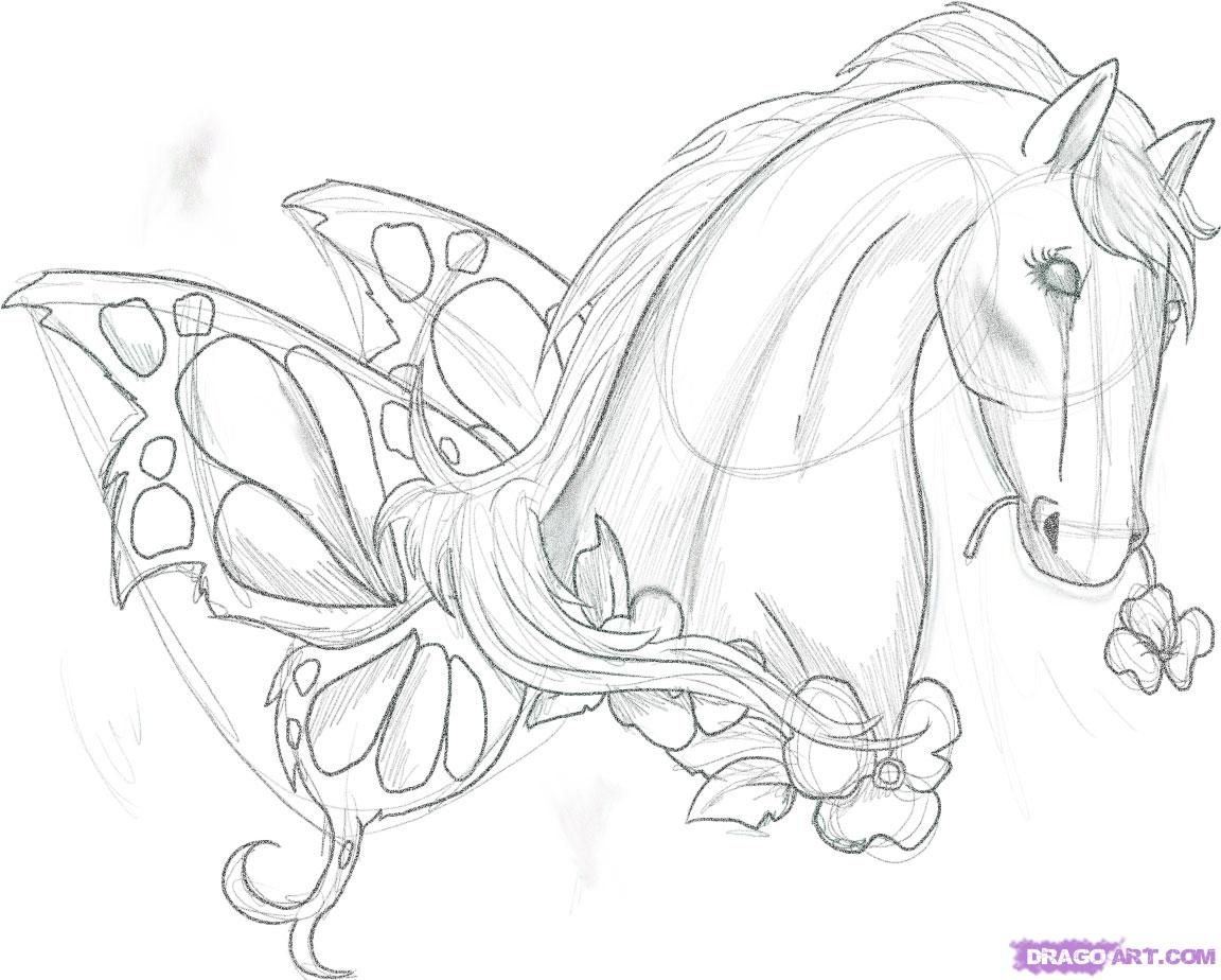 images of horse drawings Horse Tattoo, Step by Step