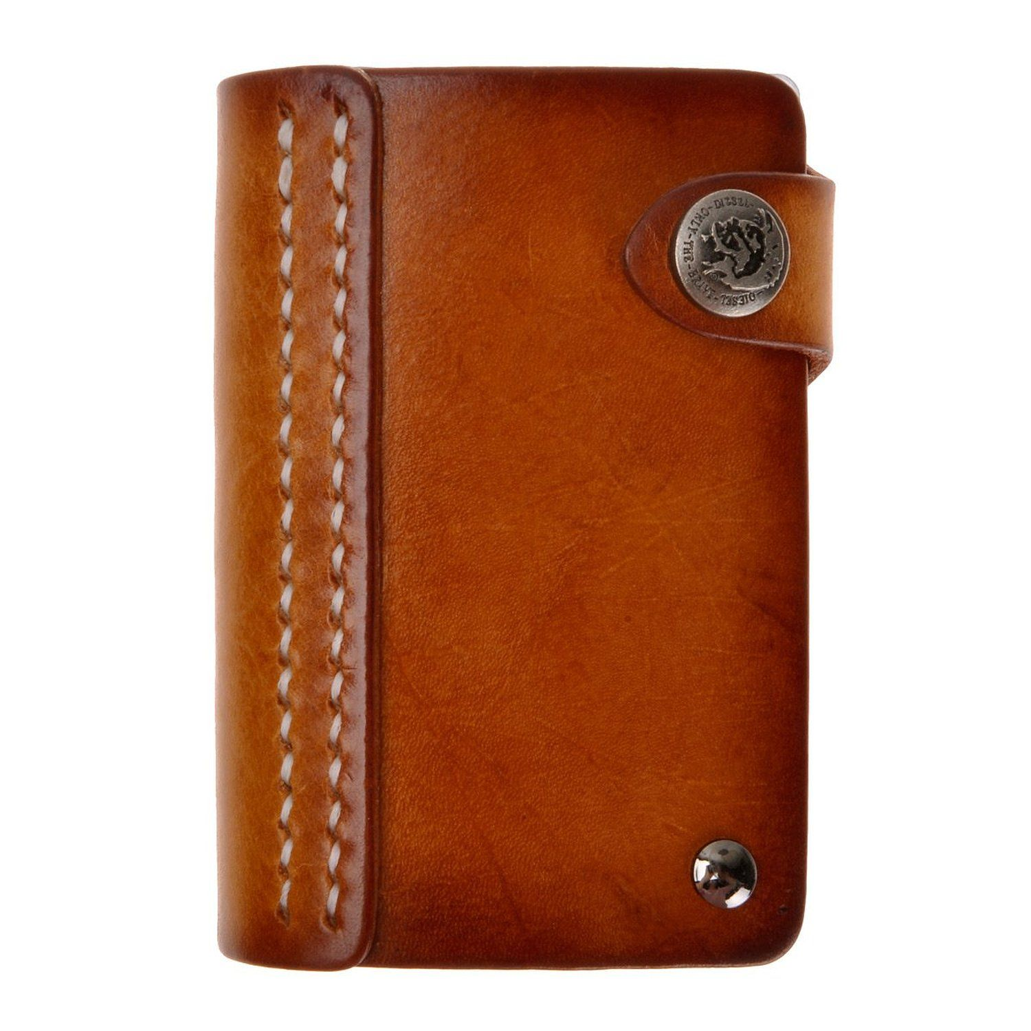 Amazon.com: ZLYC Handmade Vegetable Tanned Leather Button Credit ...