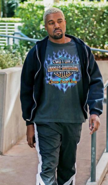 Kanye West Rocks His Vintage Harley Davidson T Shirt Harley Davidson T Shirts Vintage Harley Davidson Kanye West
