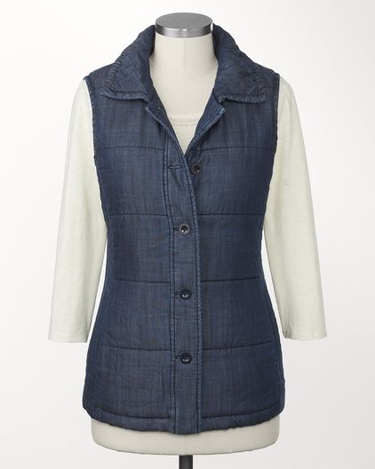 Tencel® quilted vest   Coldwater Creek