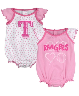 a874a67aeb11 Texas Rangers Heart Creeper Set