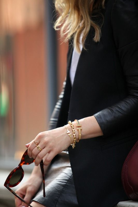 High Vs Low Tiffany Co T Wire Bracelet Tiffany Bracelets Tiffany T Stacked Jewelry
