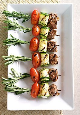 Mediterranean Lamb or chicken Skewers--Talked to Teri about doing this as the meat butlered option (they will eat these while we take photos)