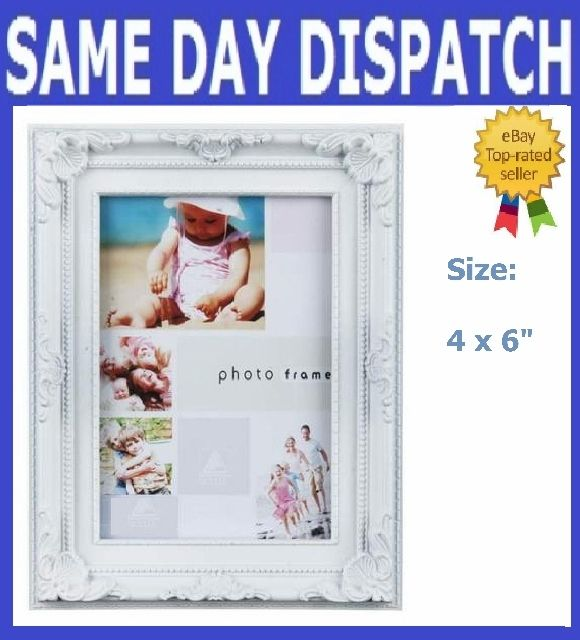 White Photo Picture Frame 10 X 15cm 4 X 6 Ebay White Photo Frames Frame Photo Frame