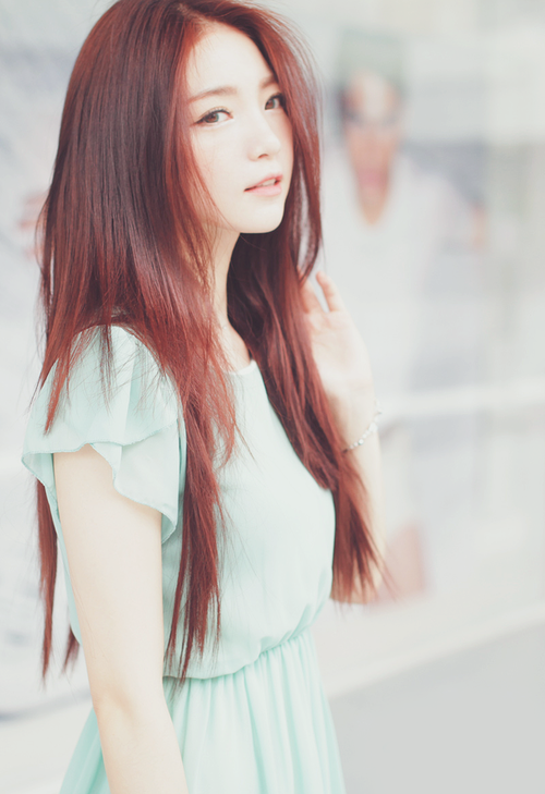 Asian girl and red head