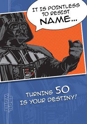 2635a58403 Star Wars A New Hope Darth Vader Age 50 Birthday Card