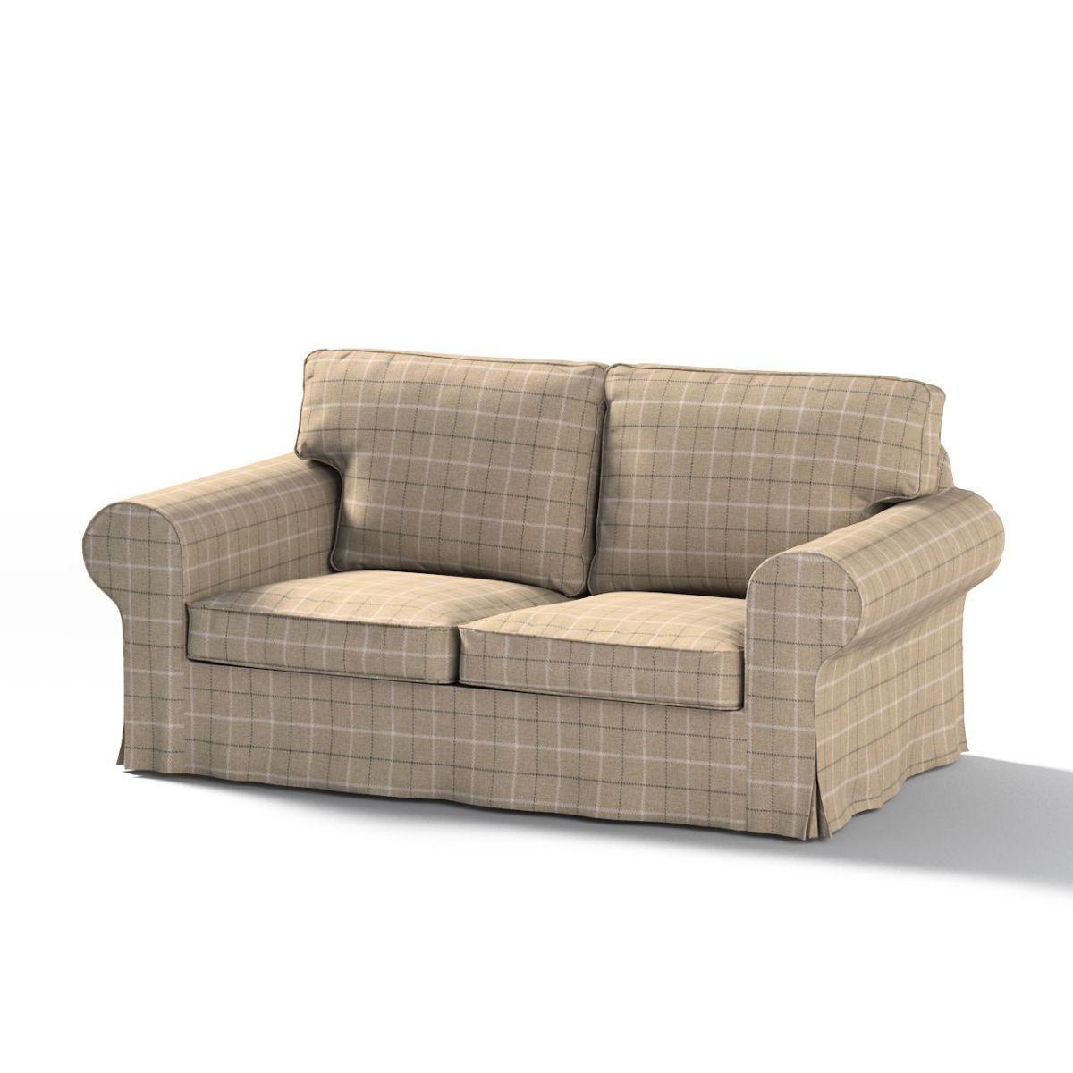 Ektorp 2 Sitzer Schlafsofabezug Neues Modell Grau Beige Sofabezug Fur Ektorp 2 Sitzer Ausklappbar Neues Modell Edinbu Wohnzimmer Sofa Mobel Sofa Schlafsofa