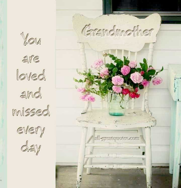 Grandmother You Are Loved And Missed Every Day Memorial Card