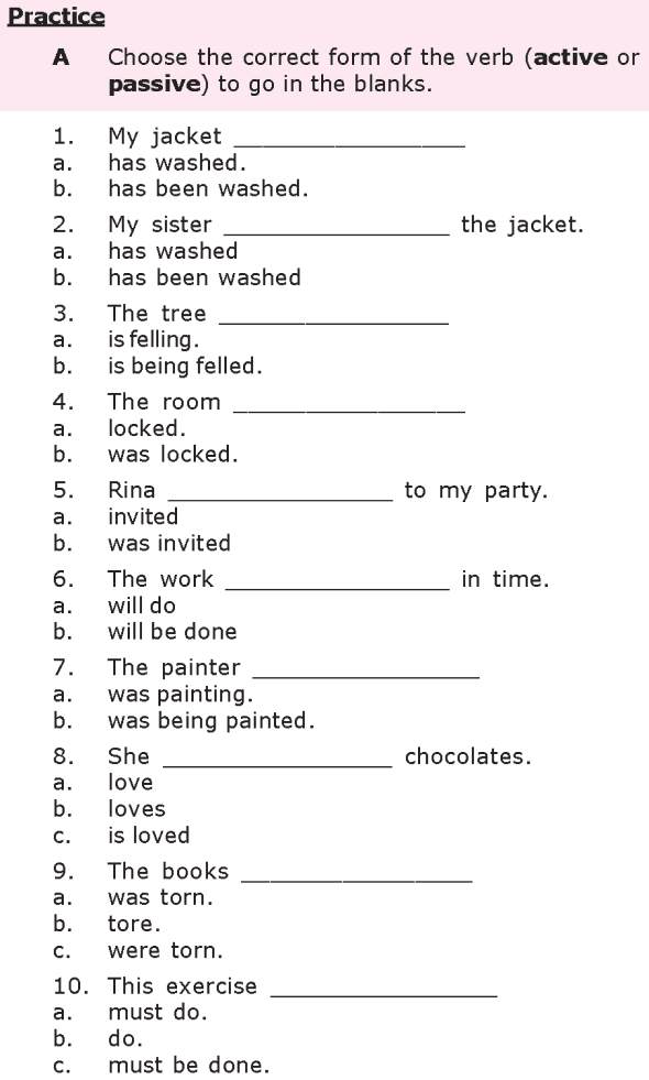 Grade 8 Grammar Lesson 21 Passive verb forms (1) | English ...