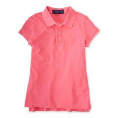 Pink Pony Cotton Mesh Polo - Girls 7-16 Polo Shirts - RalphLauren.com