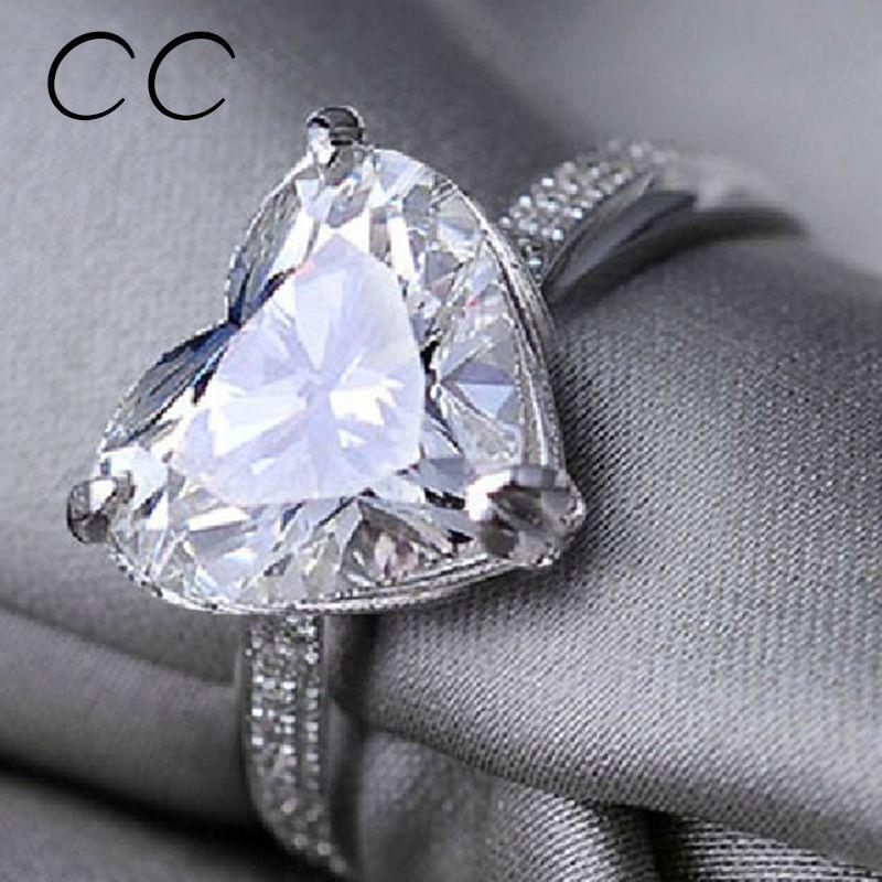 Diamantring herz  Modeschmuck Geformte Herz CZ Diamant Promise Ring Sapphire ...