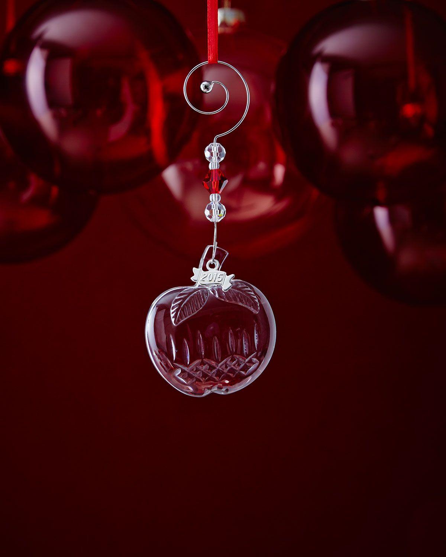 Miniature crystal ornaments - Mini Crystal Apple Christmas Ornament Clear Waterford
