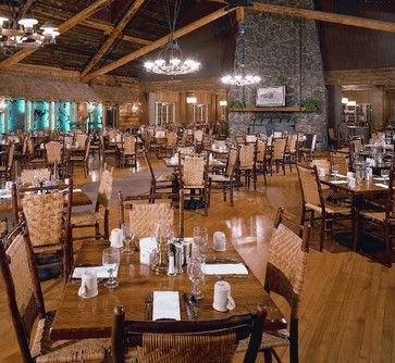 Genial Old Faithful Inn Dining Room   Original Old Hickory Chairs