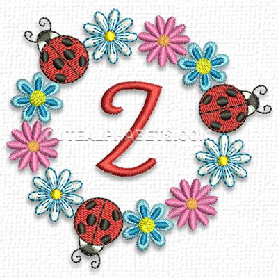 This Free Embroidery Design From Cute Alphabets Is The Letter Z From