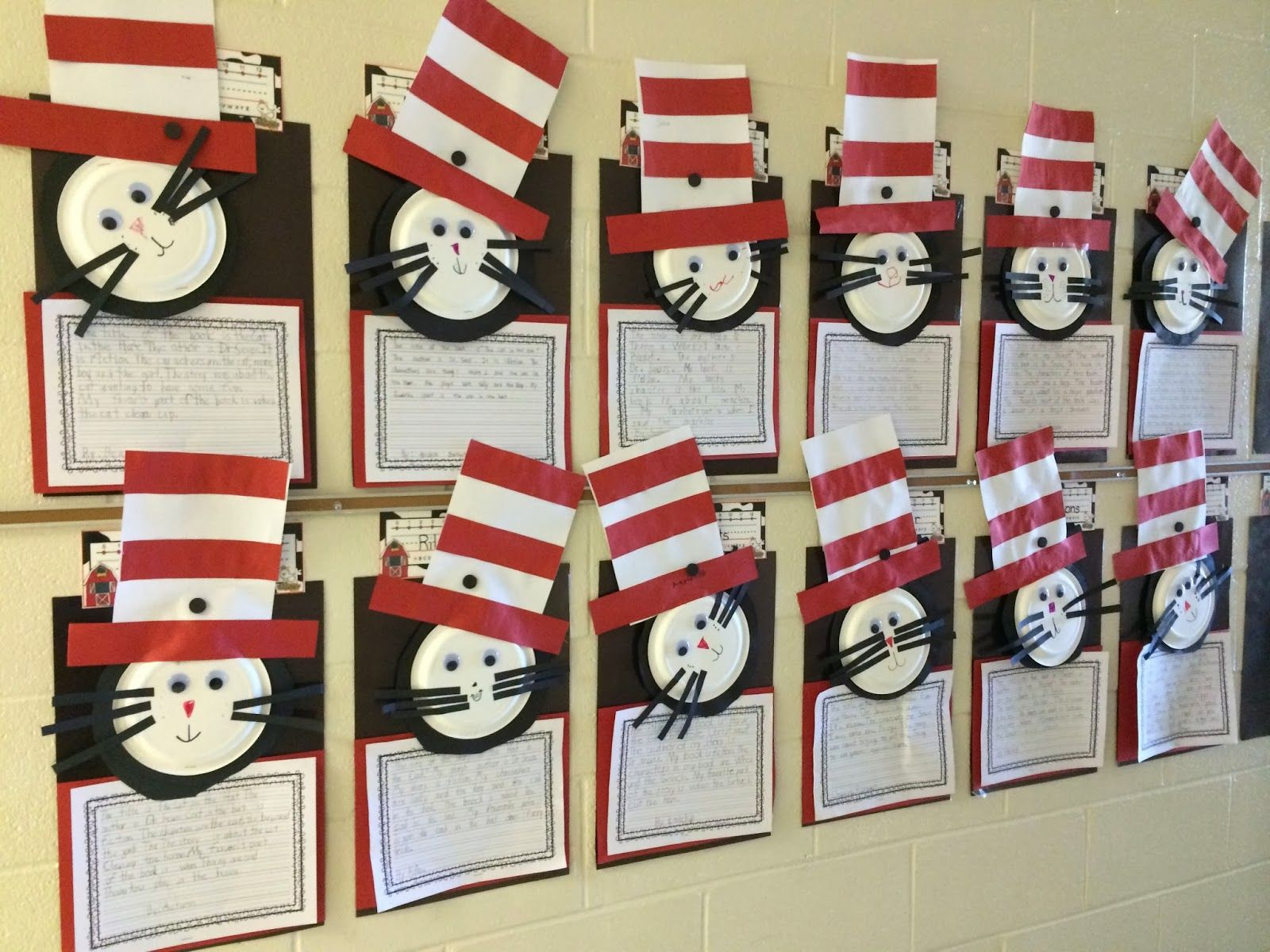 Dr Seuss Cat In The Hat Craft For Read Across America