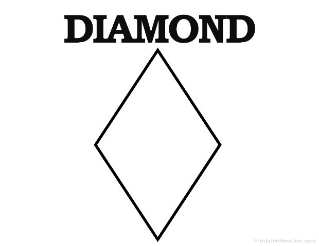 Print Free Diamond Shape
