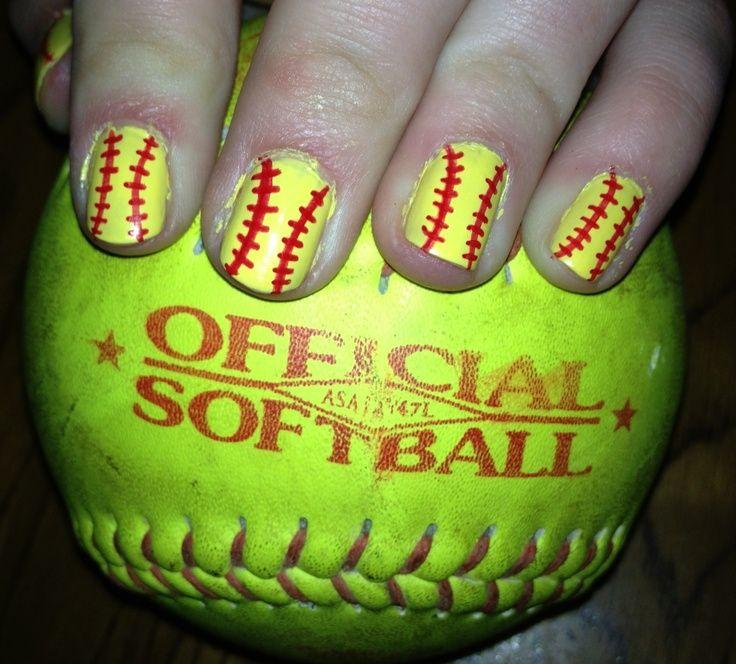 Softball Nail Designs Nail Designs Sports Fan Addict Pinterest