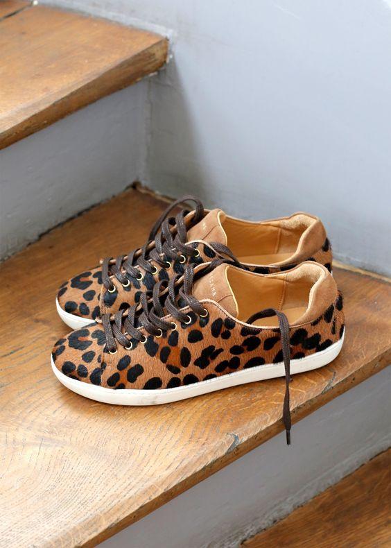 meet d44be 22812 Leopard Sezane Sneakers Basket 2017, Heeled Boots, Shoe Boots, Baskets  Hiver, Leopard