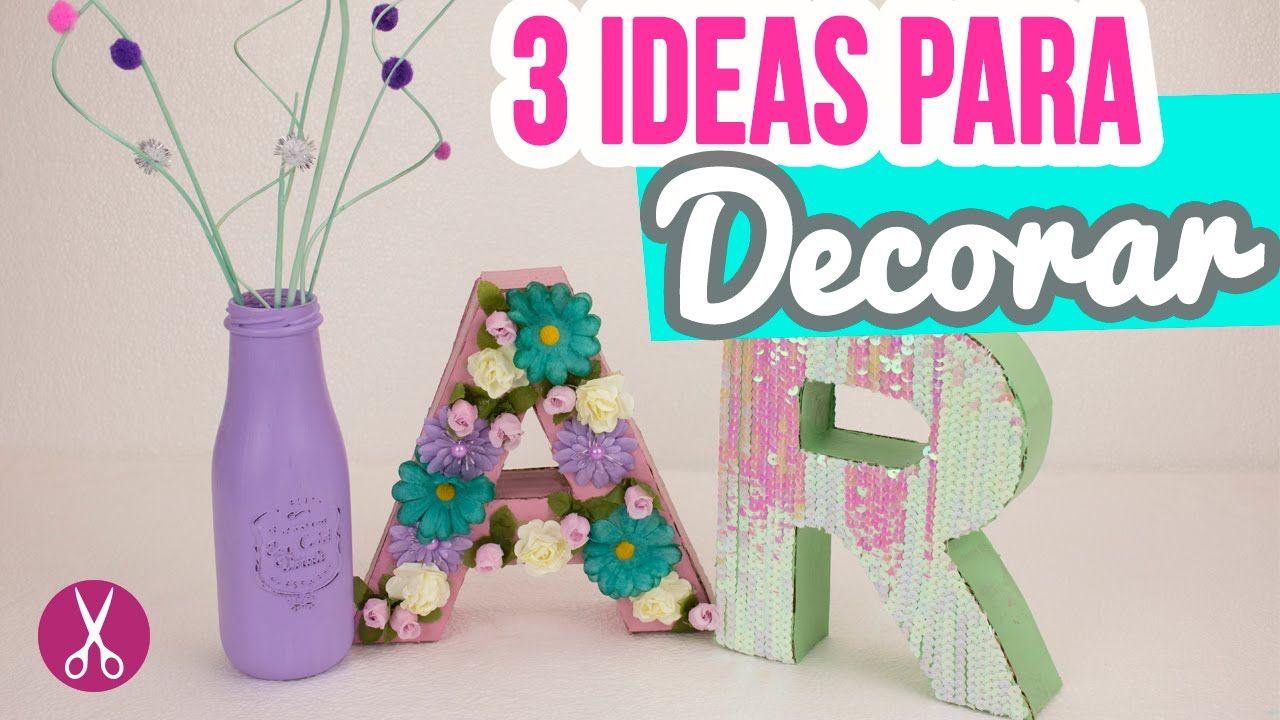 3 Ideas Para Decorar Tu Cuarto Habitacion Letras De Carton 3d