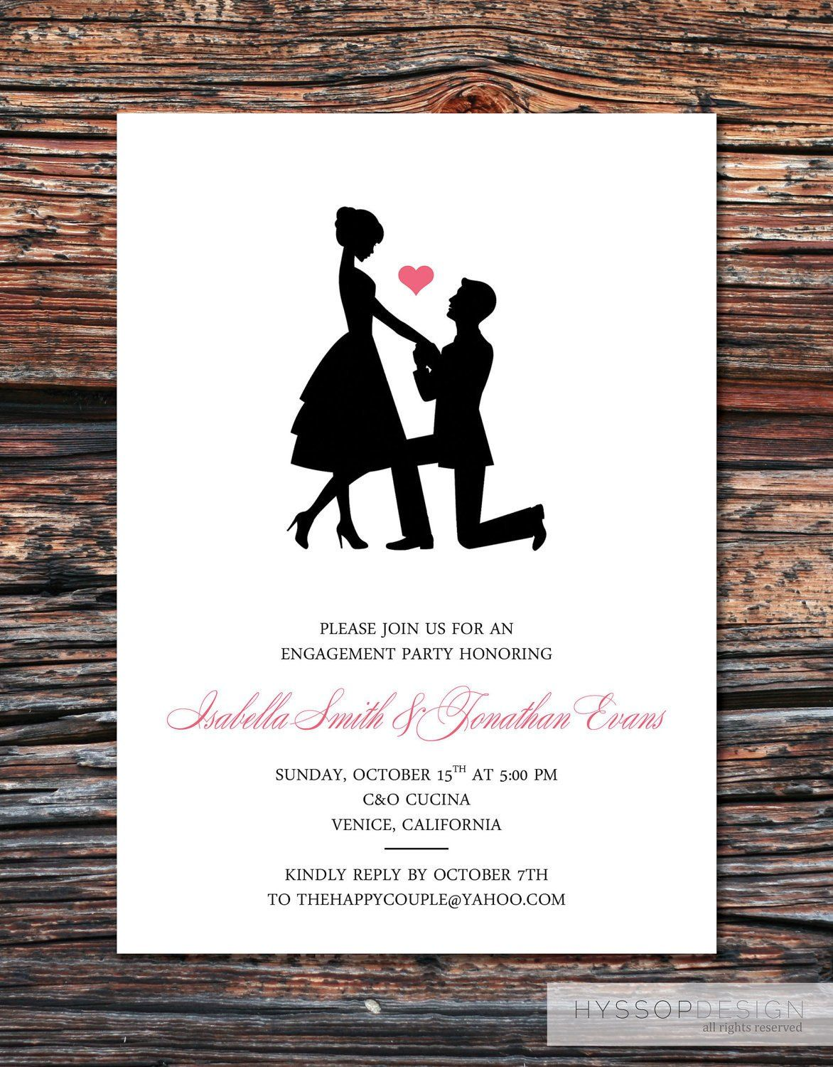 Engagement Party Invitation Templates Printable Diy Sweet Silhouette Proposal Engagement Invitation Template Engagement Invitations Free Engagement Invitations