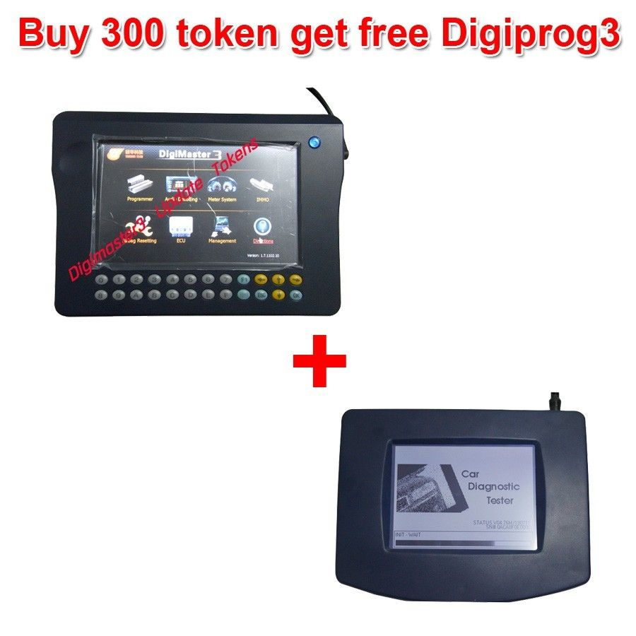 Buy 300 Tokens for Digimaster 3/CKM100/CKM200 Get Free Digiprog 3