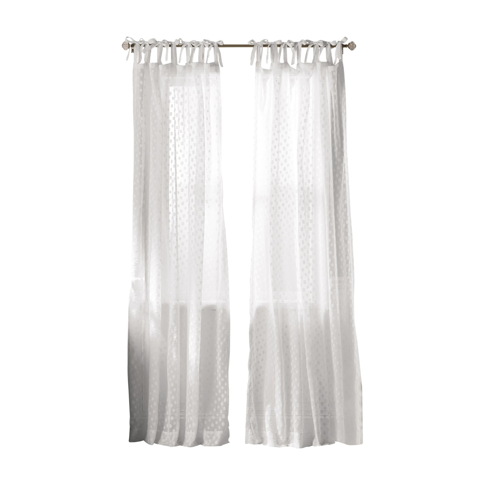The Pioneer Woman Darling Dot Tab Top Curtain Panel White White