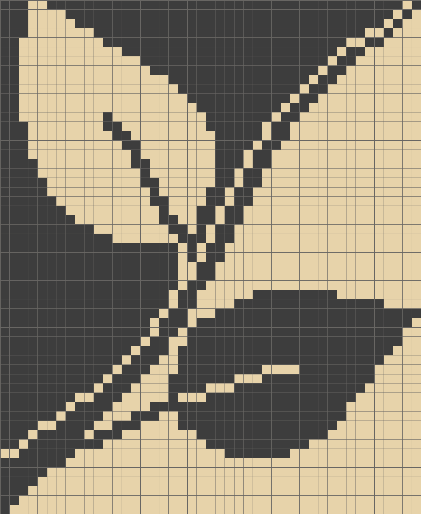 Black and white leaves pattern / chart for cross stitch, knitting ...