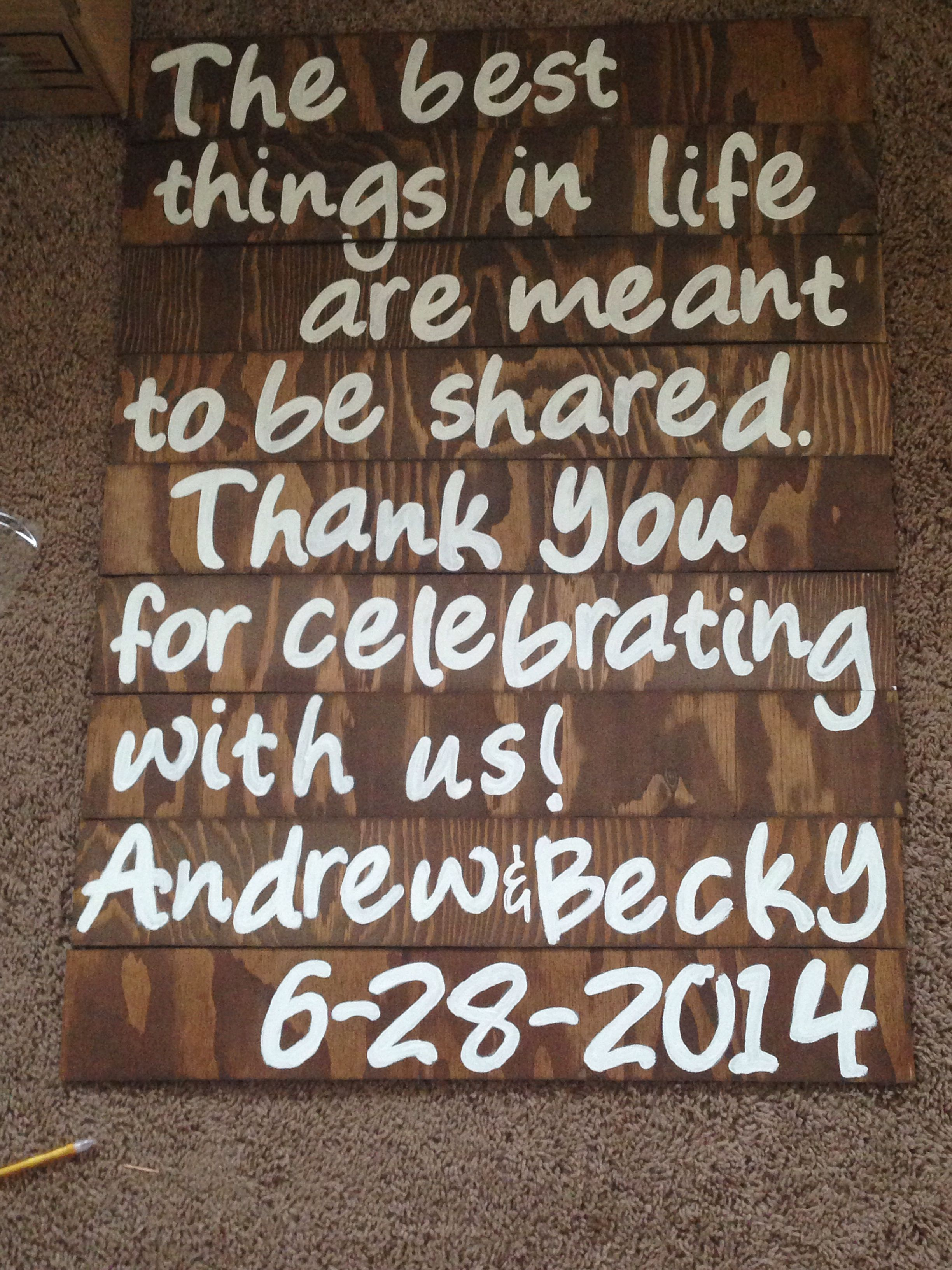 Welcome Quotes For Wedding: Welcome And Goodbye Sign For The Wedding!! Perfect Quote